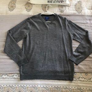 APT 9 Slim Fit Merino Wool V-Neck Sweater Pullover